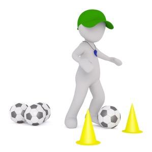 Football dribbling drill