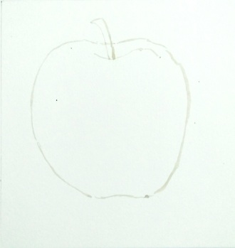 apple sketch for water coloring