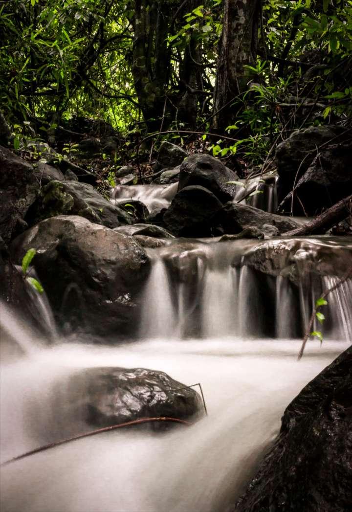 Long exposure waterfall shot