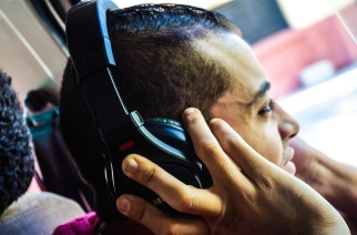 Listening music with headphones is pleasurable