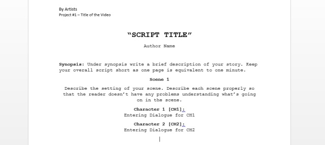 Revised Version of a video script