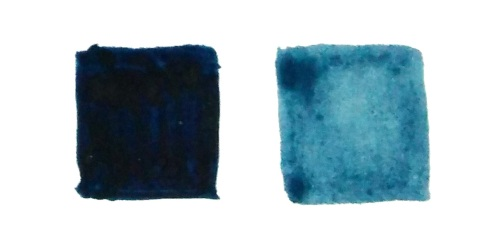 Gouache looks like acrylic and water color