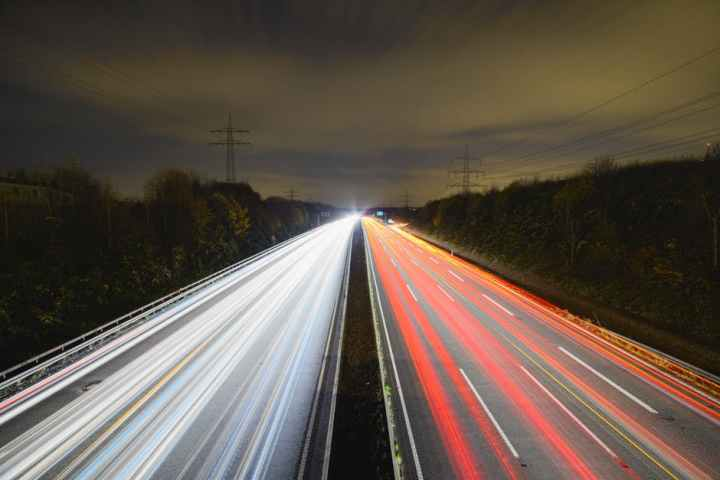 Highway image of long exposure photography