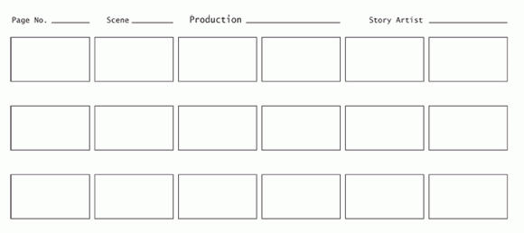Example of story boarding template