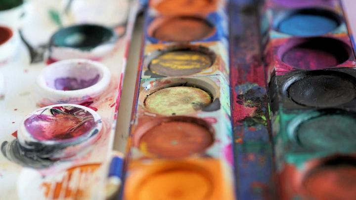 Water color painting tray