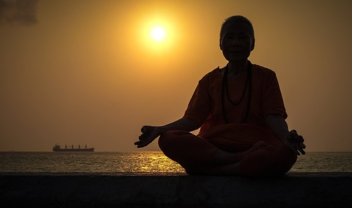 yoga not only makes you healthy but refreshes your mind.
