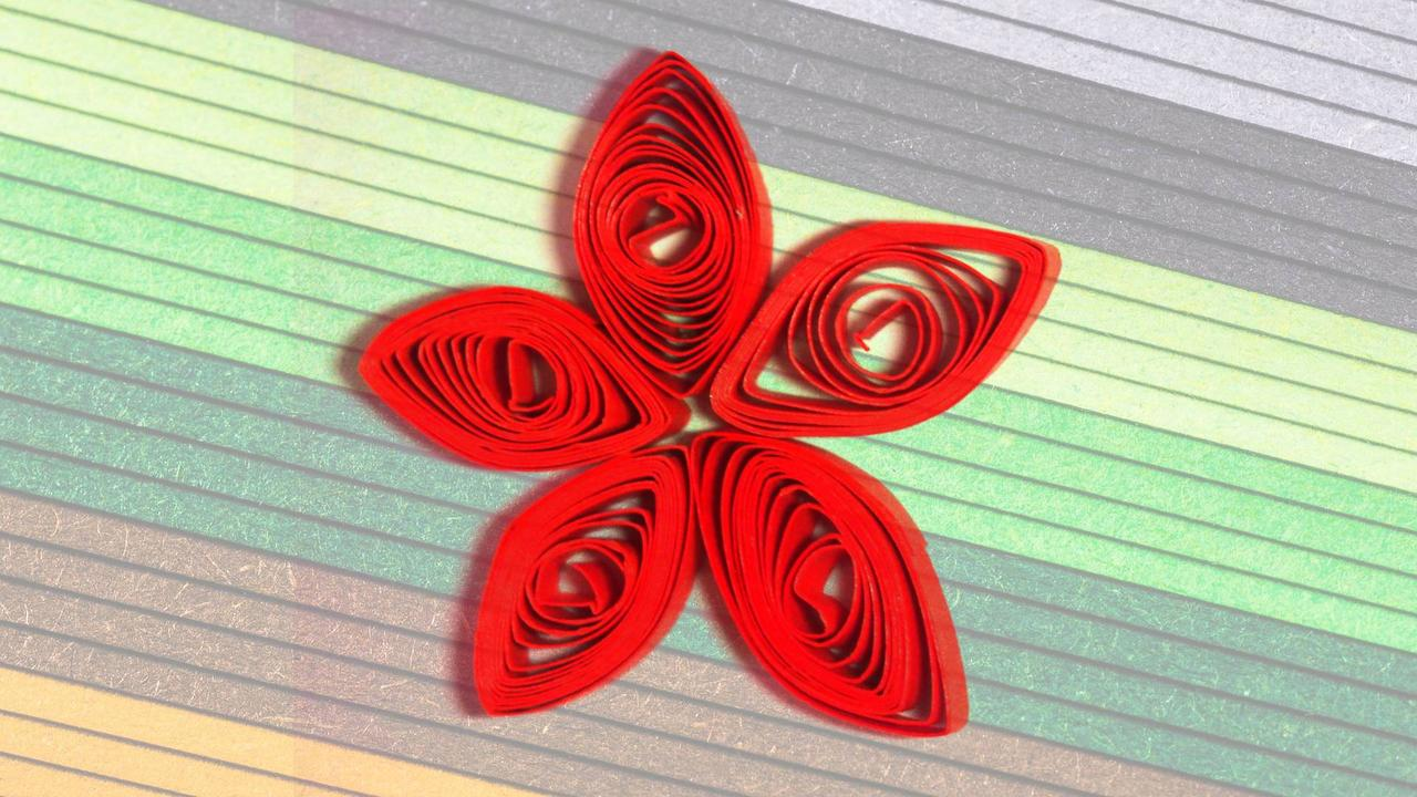 Learn basic paper quilling shapes