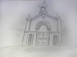 Sketch of maharaja gate
